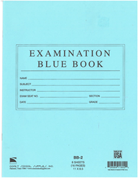 Blue Exam Book Large
