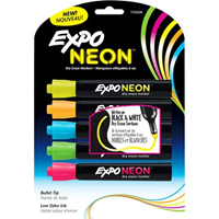 Expo Neon Marker Set- 5 Pack