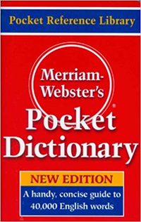 Merriam Webster Pocket Dictionary