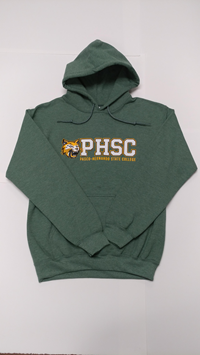 Phsc And Bobcat Logo Pullover Hoodie Green