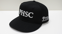 Cap Phsc Solid Back Black With White Logo