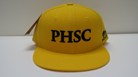 CAP PHSC GOLD SOLID BACK WITH BLACK LOGO