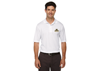 Mens Polo White Bobcat Logo