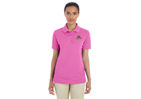Ladies Polo Pink With Bobcat Logo