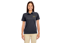 Ladies Polo Carbon With Bobcat Logo
