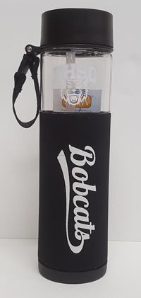 Neo Water Bottle With Sleeve Bobcat Script 24 Oz