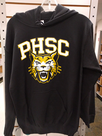 Hoodie Pullover Black With PHSC And Bobcat Logo