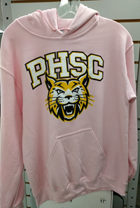 Hoodie Pullover Pink PHSC And Bobcat Logo