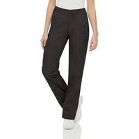 Womens Nurse Relaxed Fit Pants Black Rn