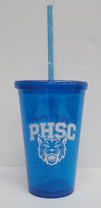 Tumbler W/ PHSC Bobcat Logo With Lid And Straw