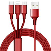3 IN ONE 10FT. CHARGING CABLE IOS, USB-C, MICRO-USB