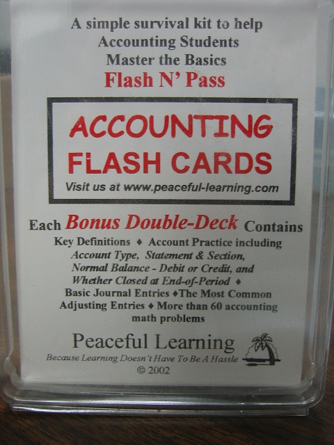 Flash N' Pass Accounting Flash Cards