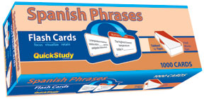 Quickstudy Spanish Phrases Flash Cards